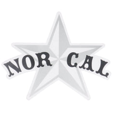 Nor-Cal Small Star Decal Sticker - Silver/Black