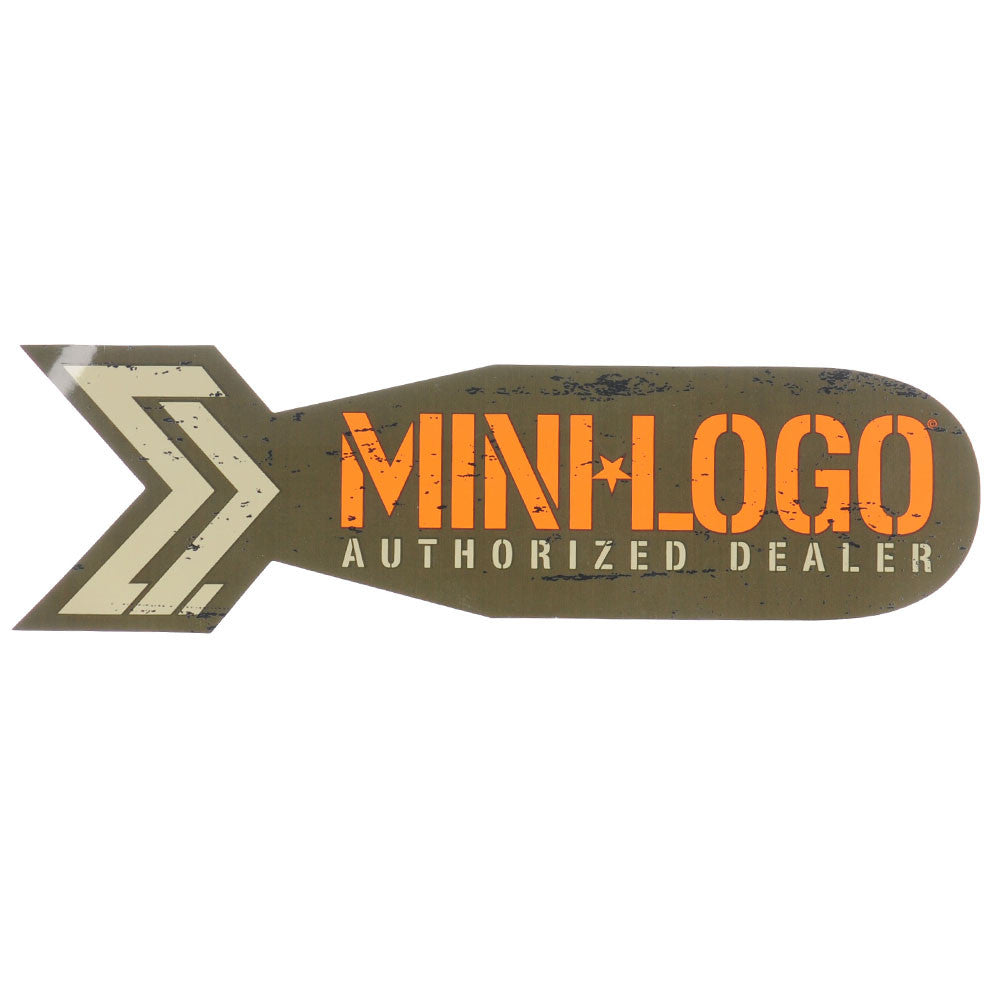 Mini Logo Dealer Bomb Sticker - Brown/Orange