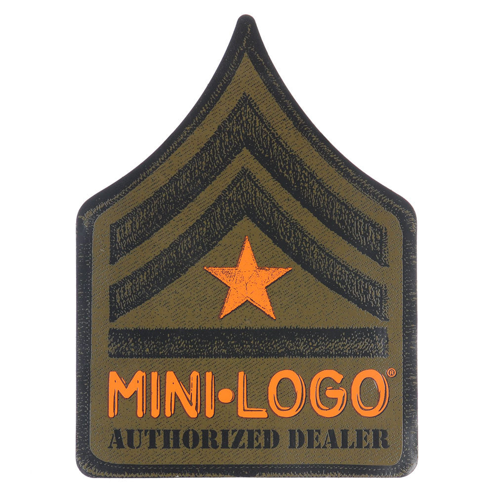 Mini Logo Dealer Rank Sticker - Brown/Orange