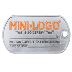 Mini Logo Dog Tag Dealer Sign - Silver/Black