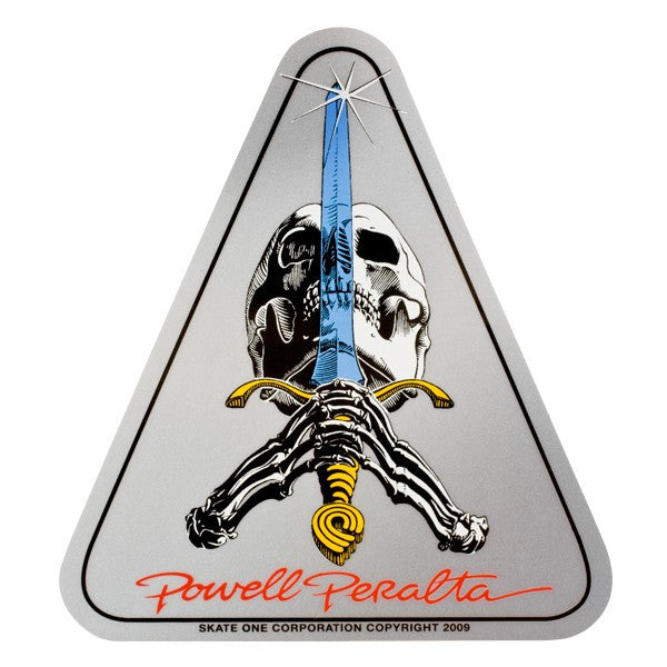 Powell Peralta Skull & Sword - Silver - 4in -