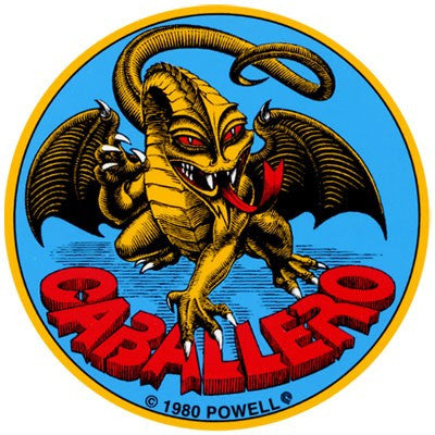 Powell Peralta Cab Original Dragon Sticker - 3.5in - Blue/Yellow