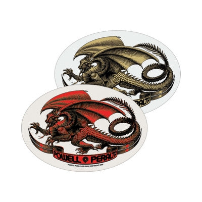 Powell Peralta Oval Dragon Sticker - Assorted Colors