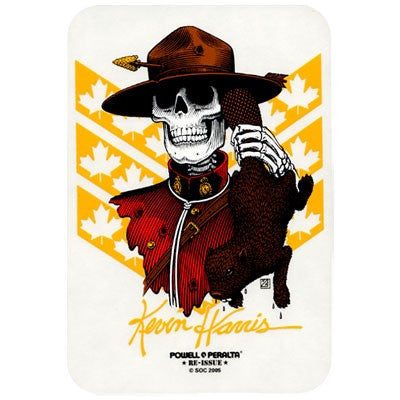 Powell Peralta Harris Mountie Sticker - White