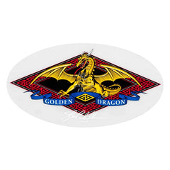 Powell Golden Dragon Sticker - White