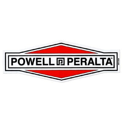 Powell Peralta Diamond Logo Sticker - White/Red/Black