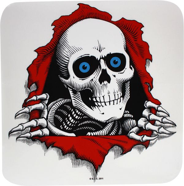 Powell Peralta Ripper Ramp Sticker - 12in - Clear