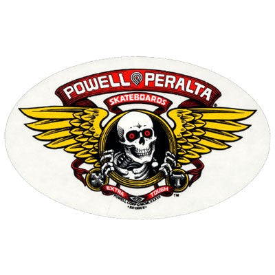 Powell Peralta Winged Ripper Sticker - White