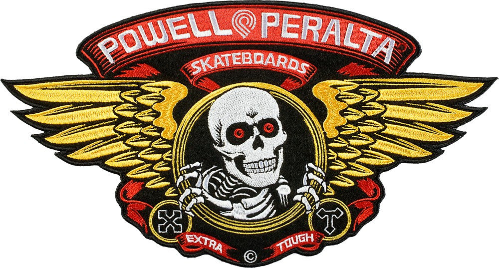Powell Peralta Winged Ripper Patch - Gold/Red