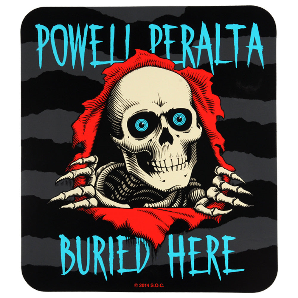 Powell Peralta Ripper Buried Here Sticker