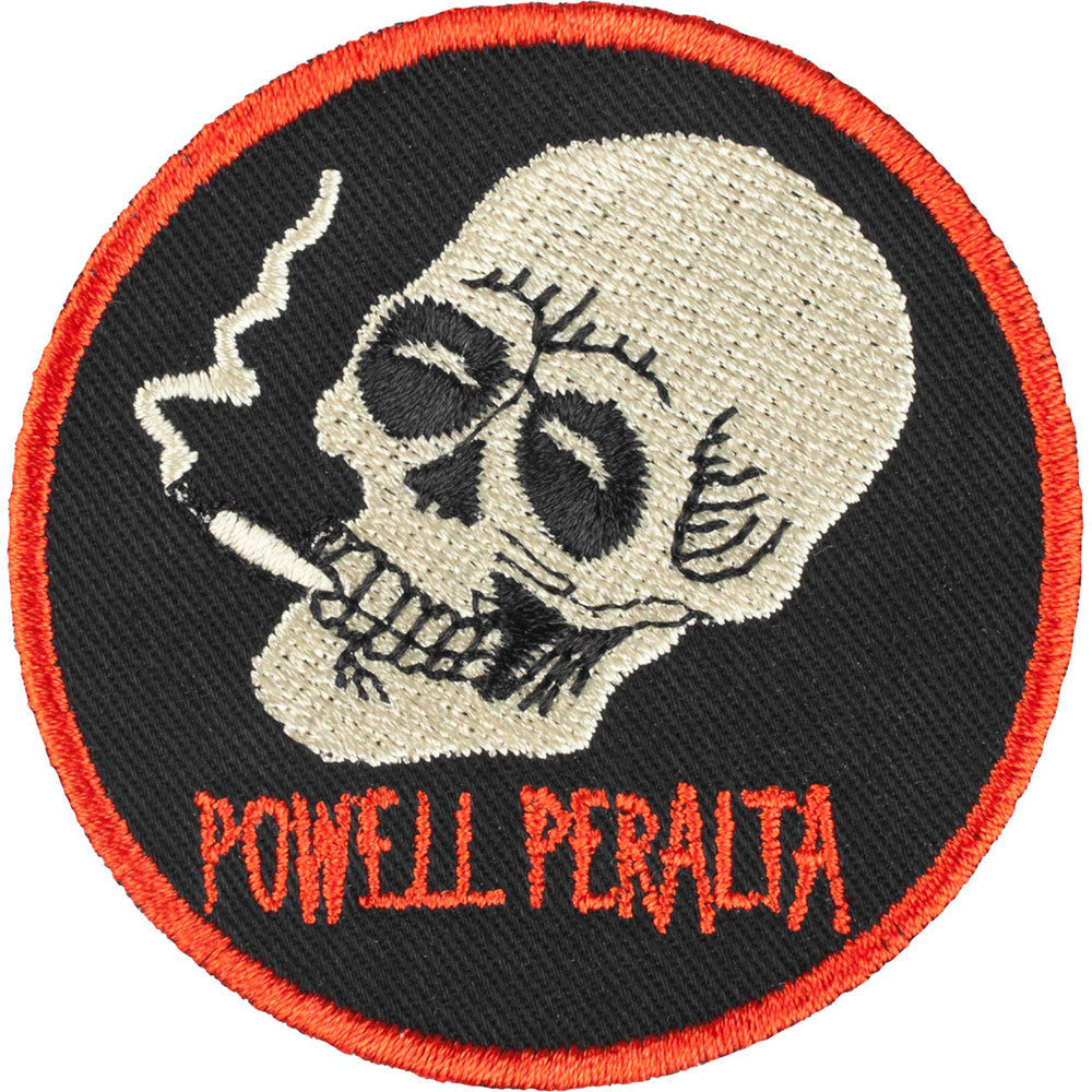 Powell Peralta Smoking Skull 2.5in Patch - Black/Red