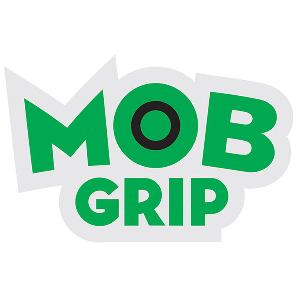 Mob Grip Decal Sticker - White/Green - 3.25in x 2.125in