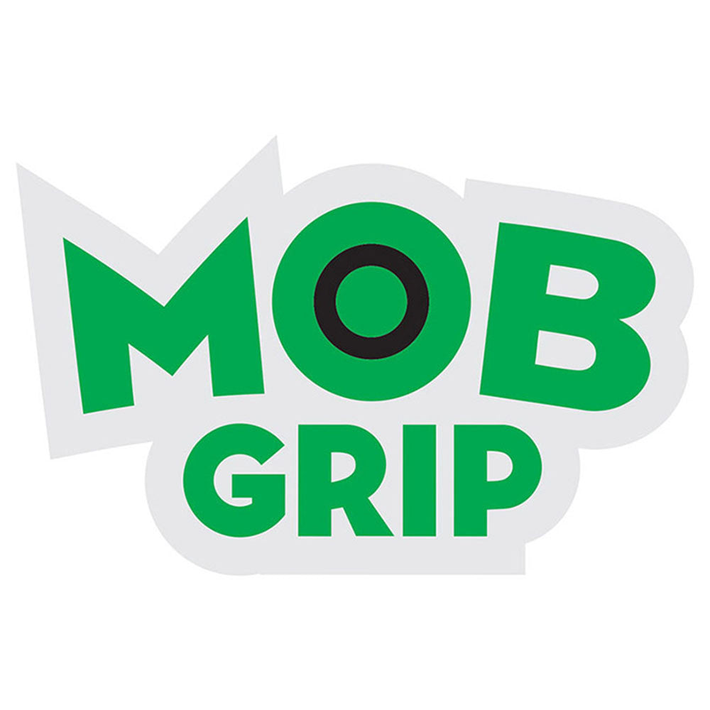 Mob Grip Decal Sticker - White/Green - 1.75in x 1in