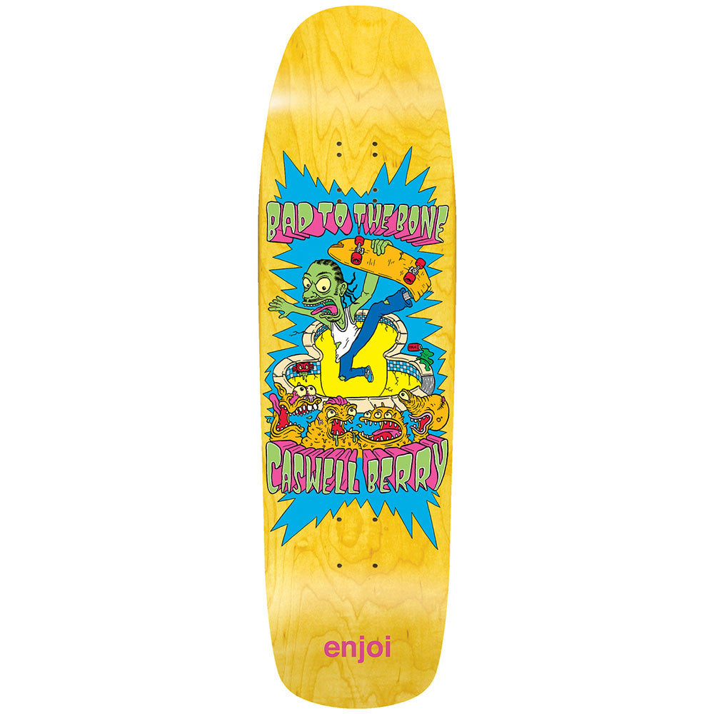 Enjoi Caswell Berry Bad To The Bone R7 Skateboard Deck - 9.0 - Yellow