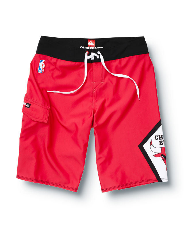 "Quiksilver Bulls NBA 22"" Mens Boardshorts - Red"