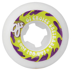 OJ Far Out Skateboard Wheels 50mm 80b - White (Set of 4)