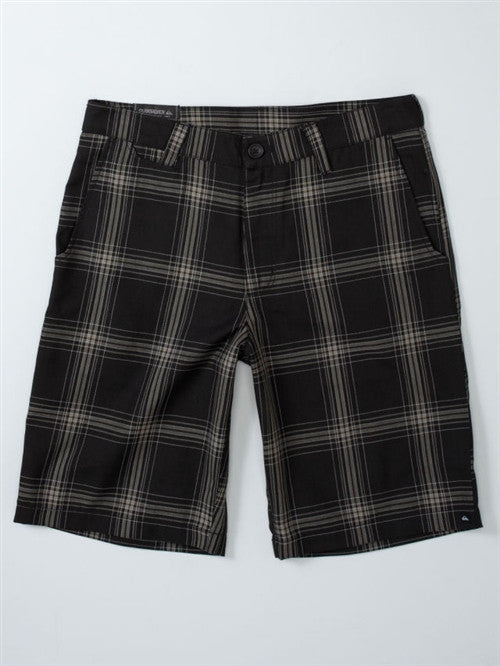 Quiksilver Full On Plaid Mens Shorts - Grey