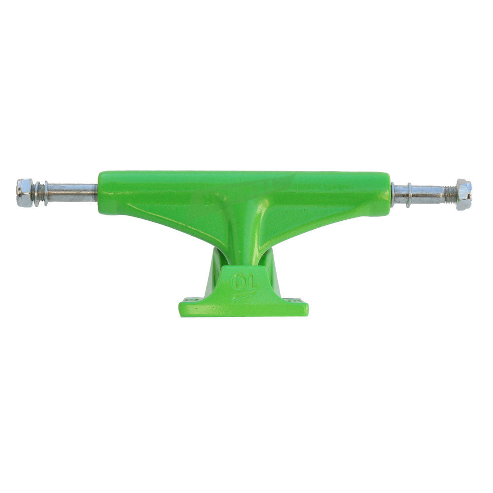 Tensor Aluminum Regular Tens Colored - Toxic Green - 5.0 - Skateboard Trucks (Set of 2)