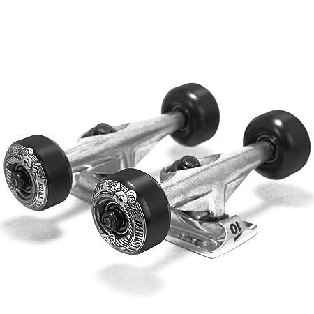 Tensor Lo Tens Revolt Truck/Wheel Combo - Raw/Black - 5.25 - Skateboard Trucks (Set of 2)