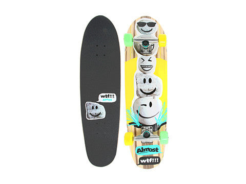 Almost Smileys Rock Cruiser Complete Skateboard - 32 - Multi