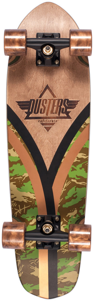 Dusters Flashback Cruiser - Camo - 28in - Complete Skateboard