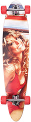 Dusters Farrah Fawcett Longboard - Red - 40in - Complete Skateboard