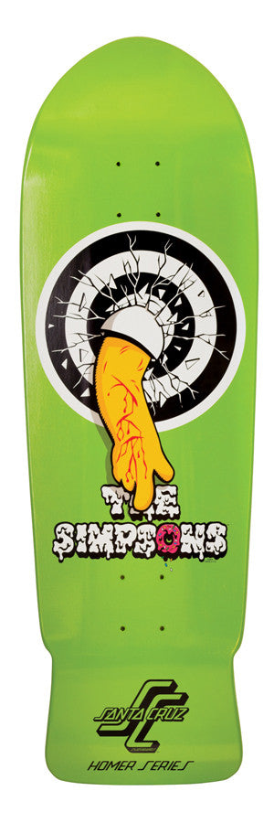 Santa Cruz Simpsons Homer One Skateboard Deck 31.4 x 10 - Green