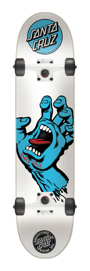 Santa Cruz Screaming Hand LTD Powerply Complete Skateboard - 7.5 x 31 - White