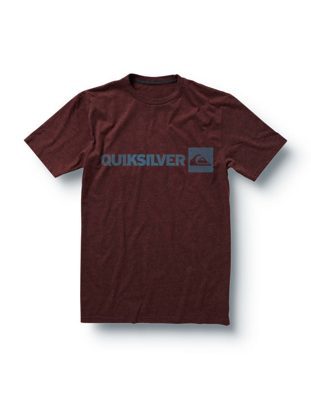 Quiksilver Industry Slim Fit Mens T-Shirt - Burgundy