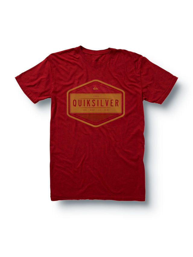 Quiksilver Centuries Slim Fit T-Shirt - Red - Mens T-Shirt