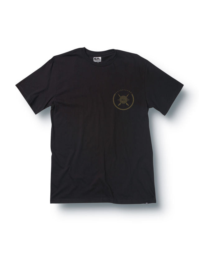 Quiksilver Tidal Slim Fit T-Shirt - Dark Charcoal - Mens T-Shirt