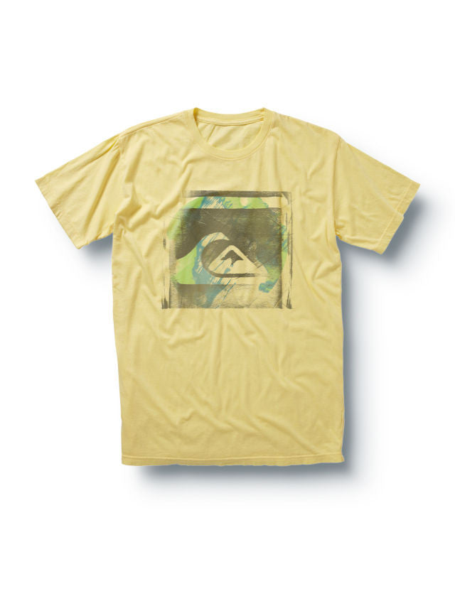 Quiksilver Stamped Logo Slim Fit T-Shirt - Yellow - Mens T-Shirt