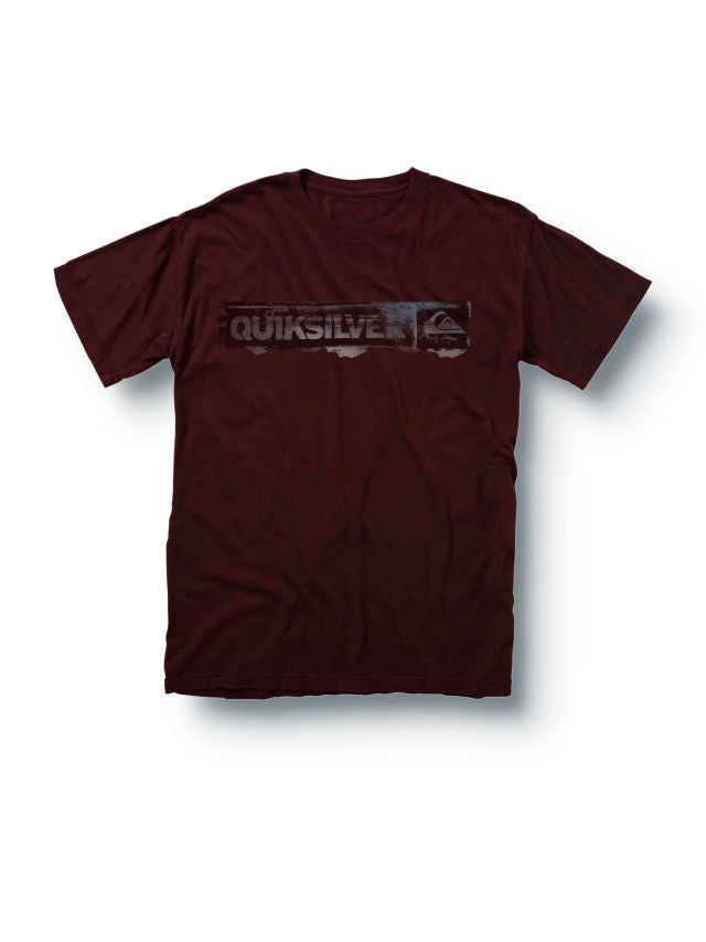 Quiksilver On the Mark Slim Fit Mens T-Shirt - Burgundy