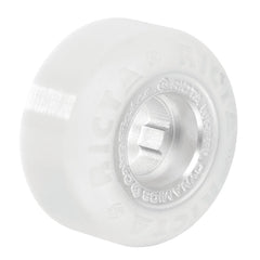 Ricta Foster Skateboard Wheels 52mm 81b - White/Chrome Core (Set of 4)