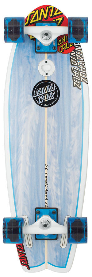 Santa Cruz Skate Land Shark Cruzer Complete Skateboard - 8.8 x 27.7 - Blue/White