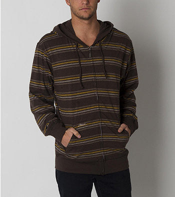 O'Neill Jaws Zip Up Hoodie - Brown - Mens Sweatshirt