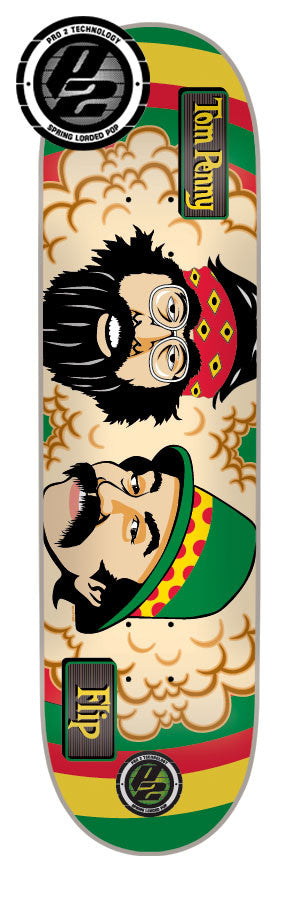 Flip Penny Rasta Cheech and Chong P2 Skateboard Deck 31.5 x 8.0 - Rasta