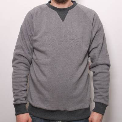 Enjoi Greyhound Custom Crew Flc - Grey - Mens Sweatshirt