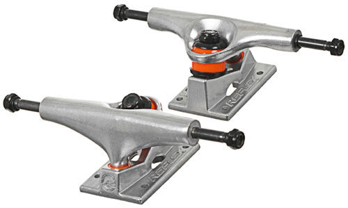 Reflex Aluminum Skateboard Trucks - 5.0 - Silver/Silver (Set of 2)