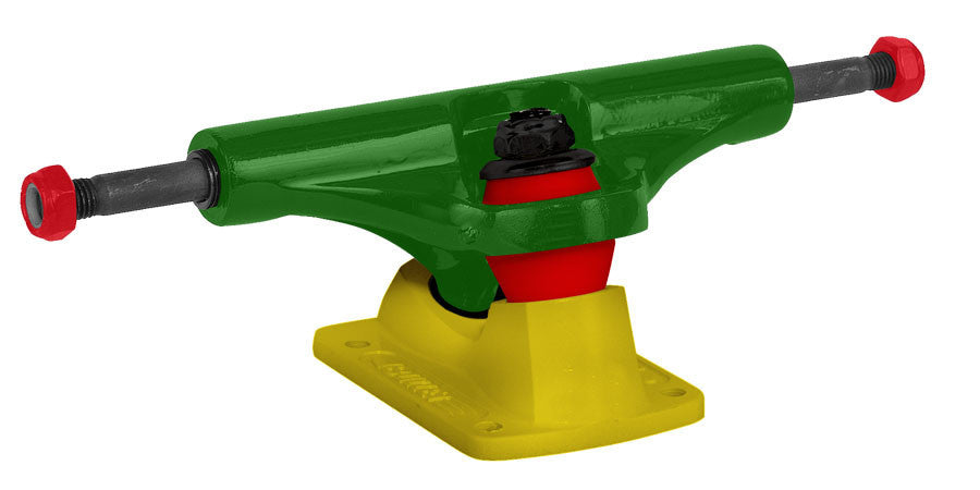 Bullet Skateboard Trucks - 140mm - Rasta Green/Yellow (Set of 2)