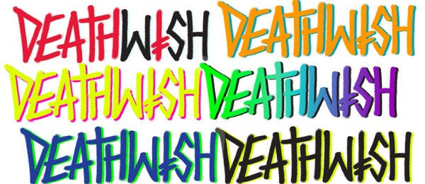Deathwish Deathspray 3 Stickers - 6in - Assorted Colors