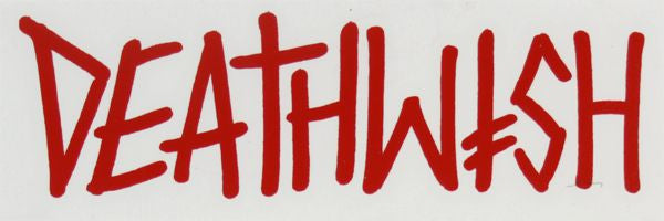 Deathwish Deathspray Die Cut Stickers - 6.5in - Red