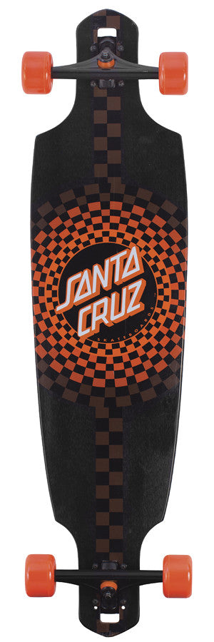 Santa Cruz Pomona Drop Thru Cruzer Complete Skateboard -9.6 x 37.8 - Black/Orange