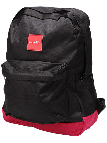 Chocolate Simple Backpack - Black/Red