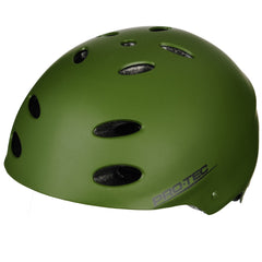 Pro-Tec Ace Rubber Skateboard Helmet - Army Green