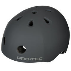 Pro-Tec City Lite Rubber Skateboard Helmet - Grey