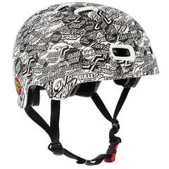Bullet O.G.S.C. All Over Skateboard Helmet - White
