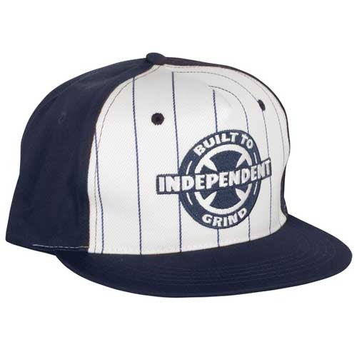 Independent BTG Ring Adjustable Snapback Men's Twill Hat - White/Navy