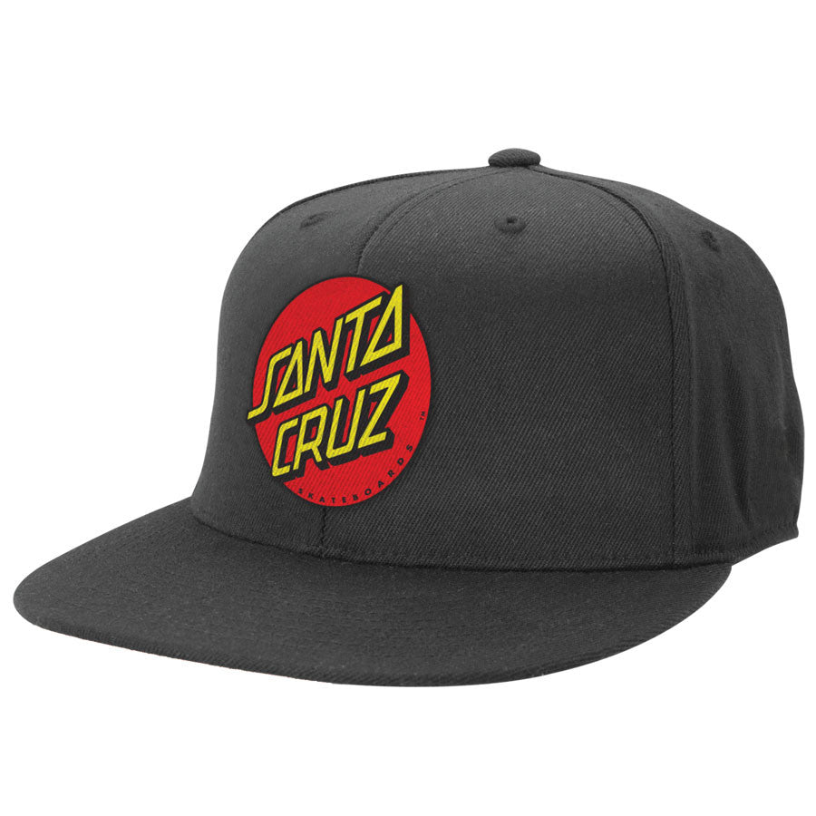 Santa Cruz Classic Dot Flexfit Fitted Stretch Hat - Black - Mens Hat