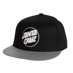 Santa Cruz Classic Dot Flexfit Fitted Stretch Hat - Black/Grey - Mens Hat